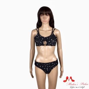 Ella Moss Large Black/White Bikini Top & Bottom